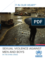 ACNUR Sexual Violence Against Men and Boys in the Syria Crisis