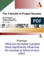 Four Secrets Project Success