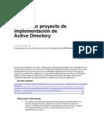 Plan de un proyecto de implementación de Active Directory
