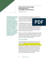 2 Practical KM a Model That Works Arthur D Little(1)
