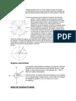 Los ángulos positivos Los ángulos positivos sobre el círculo unidad se miden con la parte inicial en lo positivo X.docx