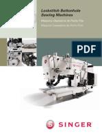 635D - Maquina de Costura Caseadeira Industrial Singer - Manual