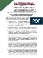 Ot-sl Encuentro Presos Politicos en Argentina - Acuerdo Final