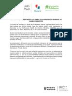 08-11-2017 MONTERÍA REPRESENTARÁ A COLOMBIA EN CONFERENCIA MUNDIAL DE CAMBIO CLIMÁTICO