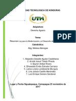 Ley para la Modernización y el Desarrollo del Sector Agrícola2