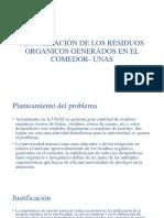 Reutilización de Los Residuos Organicos Generados en El