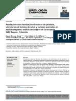 Asociación Entre Tamización de Cáncer de Próstata,