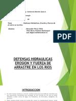 Defensas Hidraulicas Erosion y Fuerza de Arrastre