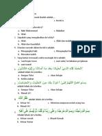 Soal Kelas 1 Doa Harian