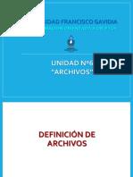 Archivos - Programacion Orientada a Objetos