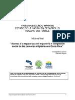Acceso a La Regularización Migratoria e Integración