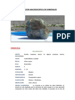 Descripcion Macroscopica de Minerales