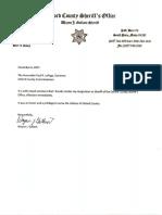Oxford County Sheriff Wayne Gallant's resignation letter
