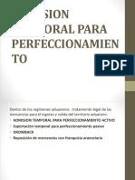 Admision Temporal Para Perfeccionamiento