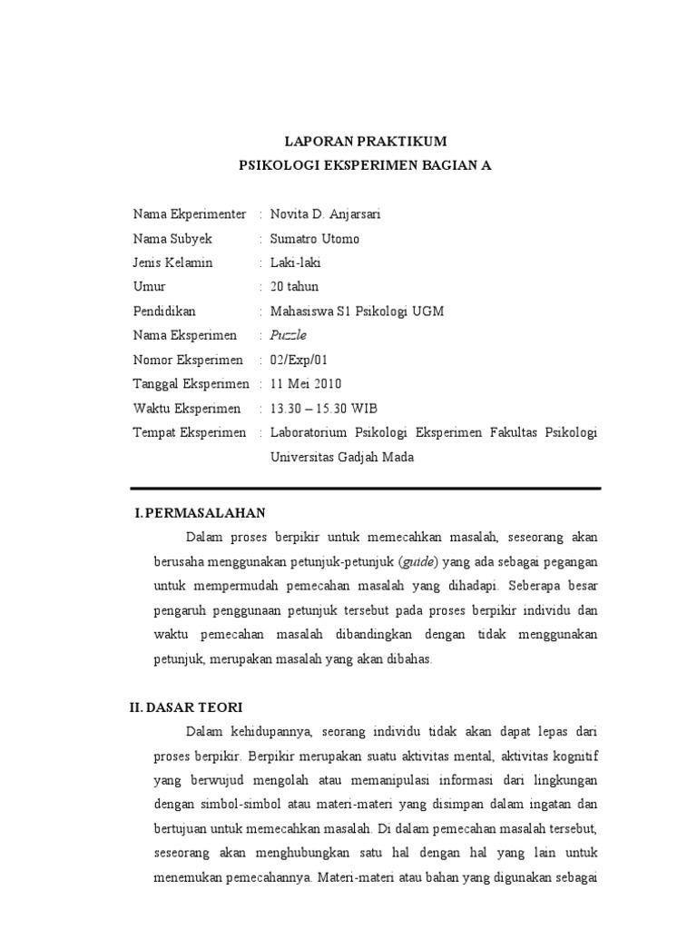 Laporan Praktikum Eksperimen Bag A N Anjar Enji Ps 05623 Perfecto