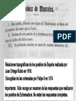 SANTIBAÑEZ EL ALTO en las Relaciones Topográficas de los Pueblos de España,  hechas por orden de Felipe II en 1574