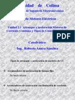 2.1 Arranque y Acelerac Motor CC y Ctrol Vel