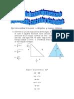 Unidad II Ejercicios Sobre Triángulos Rectángulos y Funciones Trigonométricas