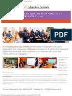 Cours d'espagnol pour débutants en Espagne - Espagnol pour adultes débutants