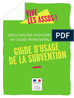 Guide Subvention