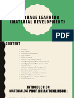 Language Learning ( Material Development)