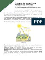 Cálculo Sistema Fotovoltaico OFF-GRID
