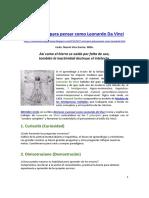 7 Principios Para Pensar Como Leonardo Da Vinci