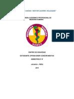 Informe Centro de Gravedad