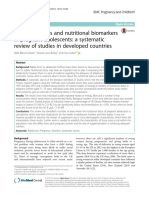 Nutrient Intakes and Nutritional Biomarkers in Pregnant Adolescents