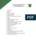 Elementos Necesarios Para La Planificación Didáctica
