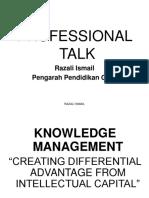 Professional Talk K-management