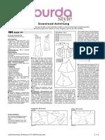 Vestido de Noche Para El Verano 191 Burda 122010 Instrucciones de Costura en Aleman