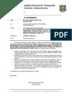 Informe Asistente Administrativo