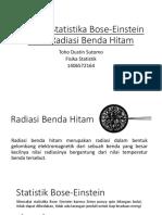 Aplikasi Statistika Bose-Einstein Pada Radiasi Benda Hitam