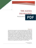 memo report alexia foundation