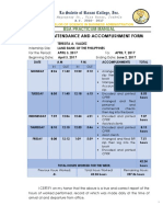 Daily Attendance and Accomplishment Form