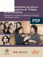Institucionalización de Género en Los Ministerios de Trabajo de Las Américas