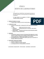 Física Reglamento de Laboratorio