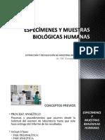 CLASE 1 - Especímenes y Muestras Biológicas Humanas