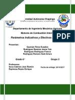 Parametros Indicados y Efectivos de Los Mci