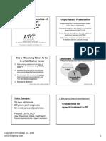 Lsvt Loud Patient Lecture Handout 2014