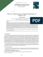 Effect of Compaction Energy on Engineeri