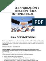 Plan de Exportación y Distribución Física Internacional