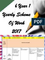 English Year 1 Yearly Scheme of Work 201