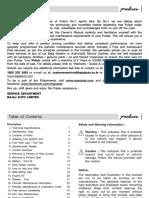Pulsar 150/180 Users Manual