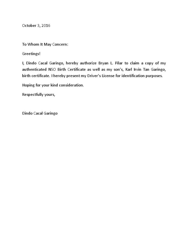 326191101 authorization letter nsocx altavistaventures Gallery