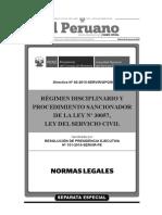 Arégimen Disciplinario y Procedimiento Sancionador de La Ley Nº 30057, Ley Del Servicio Civil