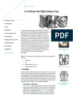 How to Choose the Right Exhaust Fan — Grainger Industrial Supply