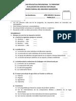 Evaluacion Del Primer Parcial - 2do Quim - 9no Ciencias Naturales