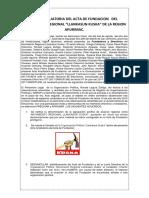 Acta Complementaria de Fundacion